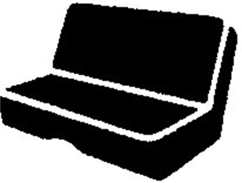 Black FIA TR44 BLACK Universal Fit Truck Bench Seat Cover