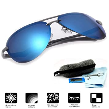 Gafas de sol polarizadas speedback cityboard conductores UV, espectáculo casos incluido Azul azul One Size
