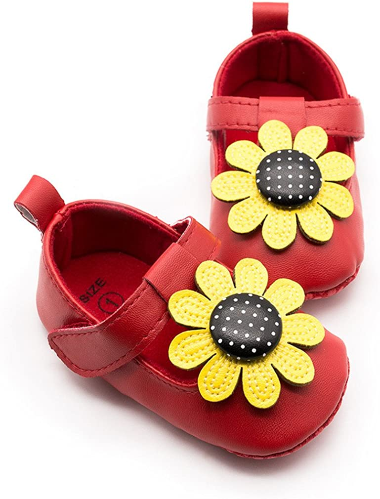 Z-T FUTURE 0-18 Months Baby Girls Shoes Cute Bow Princess Mary Jane Toddler Girl Shoes PU Leather 4Colors