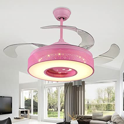 Simple Ceiling Fan Lamp for Living Room/Restaurant with 4 Acrylic ...
