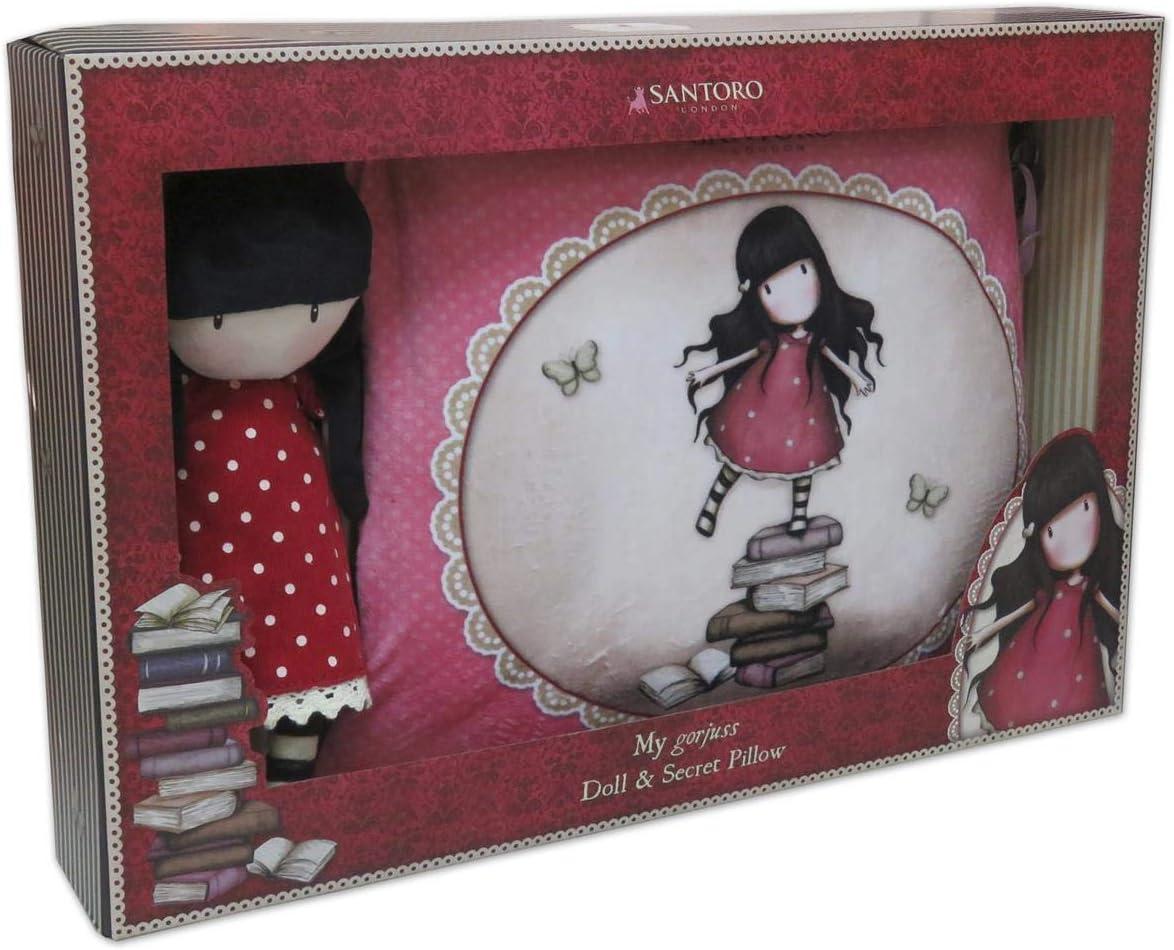 CYP- Set de Regalo muñeca y cojin Secreto Gorjuss New Heights 48x8,5x32 cm, Multicolor (CK-10R-G): Amazon.es: Juguetes y juegos