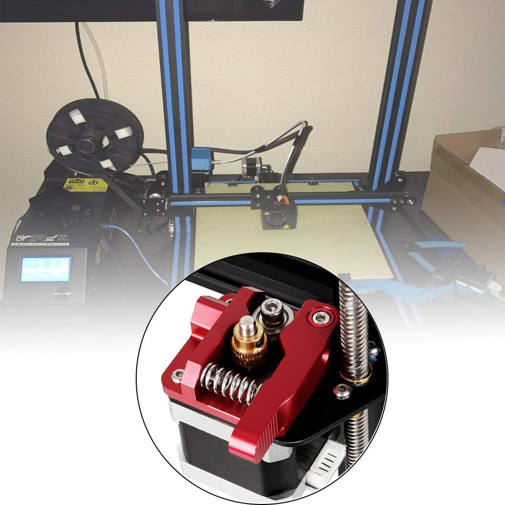 CR-10 CR-10S Saipor MK8 Extruder Aluminum Block CR-10 S5 Upgraded Replacement MK8 Drive Feed Kit 3D Printer Bowden Extruders 1.75mm Filament for Creality Ender 3 CR-10 S4