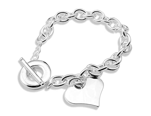 925 Silber plattiert Armband Kette Damen Schmuck NEU!!! 19 cm