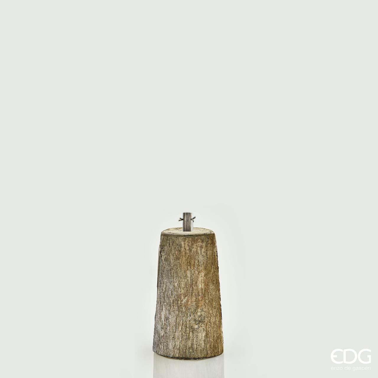 Base in finto legno h45xØ22cm per albero di Natale artificiale h 150/180cm Xone