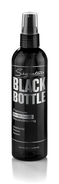 Intimpflege Creme für Männer, gegen Entzündungen und trockene Haut im Intimbereich, natürliche Pflege und bessere Durchblutung mit Sheabutter, L-Arginin und Vitamin-Komplex Signature Black Bottle
