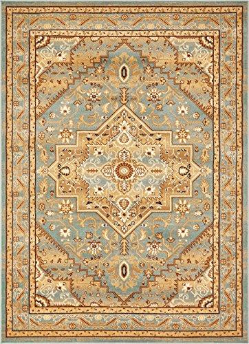 (Well Woven Tribal Elegance Blue Modern Persian Medallion 5x7 (5'3