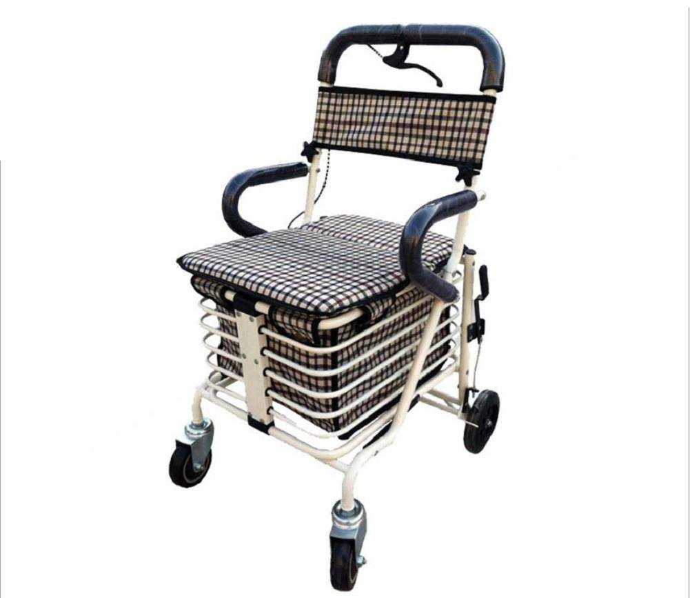 Collapsible Walking aid Aluminum Alloy Elderly Shopping Cart