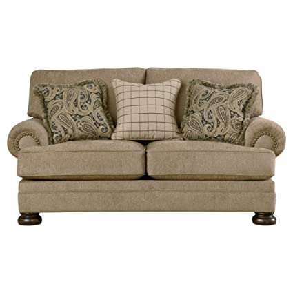 Gentil Ashley Furniture Signature Design   Keereel Sofa Loveseat With 3 Pillows    Plush Upholstery   Traditional