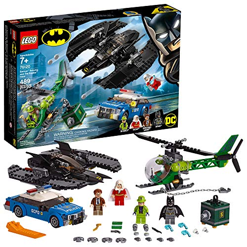 LEGO DC Batman: Batman Batwing and The Riddler Heist 76120 Building Kit, New 2019 (489 Pieces) (Dc Justice Lego Sets League)