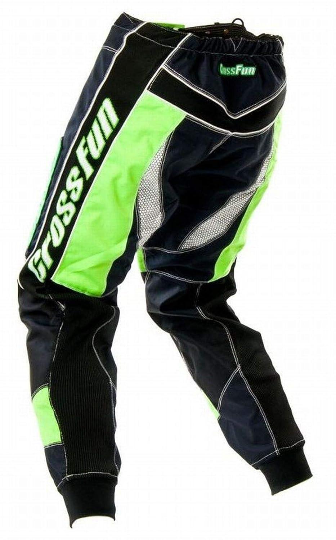CrossFun Motocross Hose gr/ün weis schwarz Gr S bis 3XL