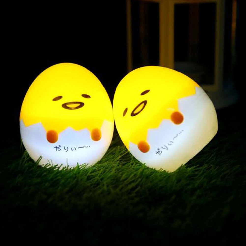 Kawaiiナイトライト、meetcute Cartoon Gudetama Lazy Egg Miniランプ夜ライトホームデコレーションギフト MCblb2902jd2 B075MYNKJF 27406  Lazy Egg2pcs