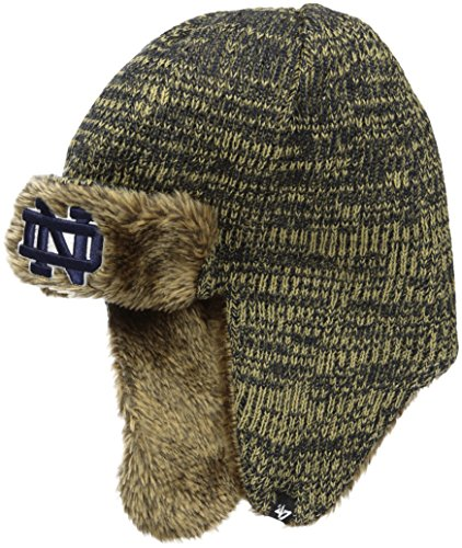 Notre Dame Gear (NCAA Notre Dame Fighting Irish '47 Orca Sherpa Knit Beanie, One Size, Navy)