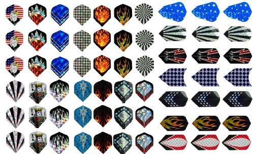 (Champion Sport Co New 21 Sets (63 Pieces) of Darts 2d and Aluminium Flights Assorted Wholesale)