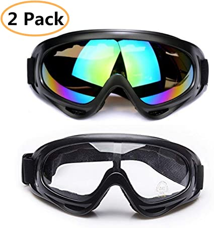 VEGCOO 2 Pack Snowboard Goggles Skate Glasses Ski Goggles Boys /& Girls Anti-Glare Lenses Men /& Women Wind Resistance 100/% UV Protection Motorcycle Cycling Goggles for Kids Youth