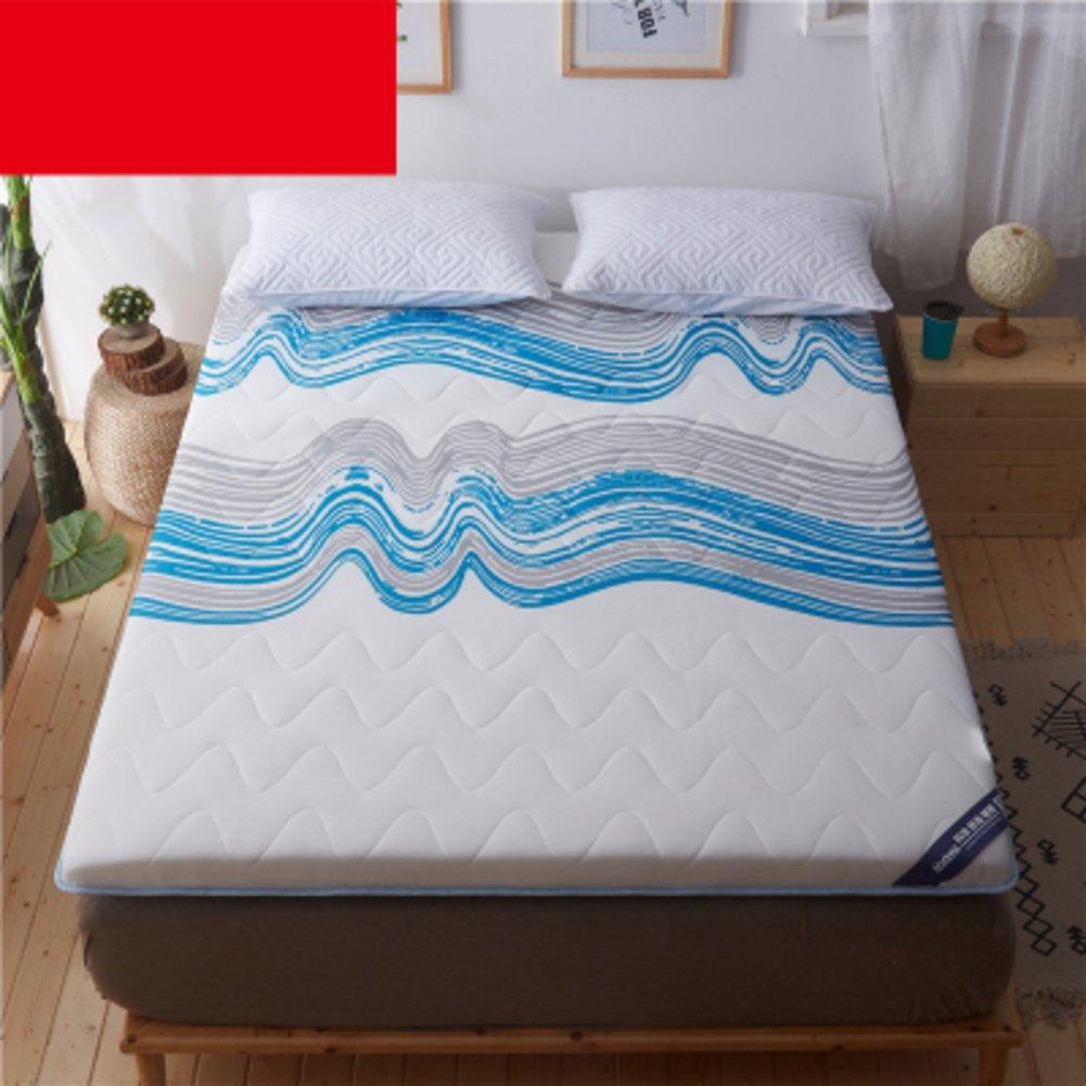HYXL Folding Tatami floor mat Floor mattress Pad,Soft quilted mattress protector Tatami mattress bedroom folding mattress dormitory single bed-E 90x190cm(35x75inch)