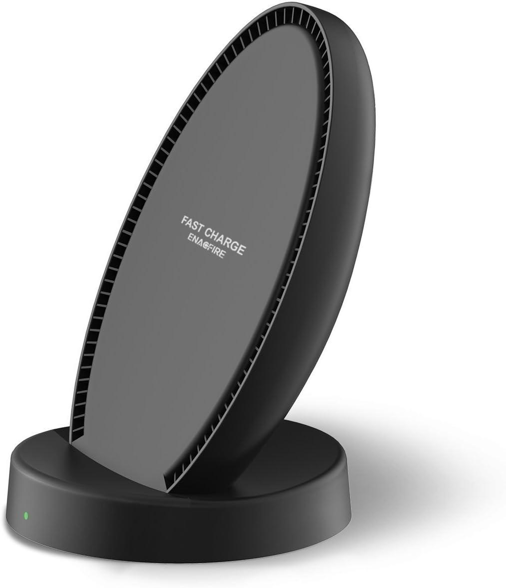 iPhone X Wireless Charger ENACFIRE W2 Standard Qi Wireless Charger for iPhone X 8 8 Plus No AC Adapter Fast Wireless Charger Pad Stand for Samsung Galaxy Note 8//5 S8//S8 Plus S7//S7 Edge S6 Edge Plus