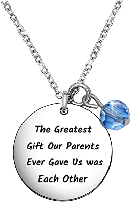 Best Friend Gift Twin Sister Jewelry Gift for Sister Sister Gift Birthday Gift for Twin Sister Valentine/'s Day Gifts for Twins Necklace