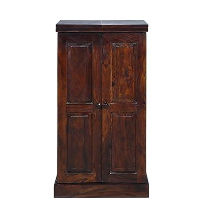 Aarsun Sheesham Wood Handcrafted Bar Cabinet - Wine Cabinet - Bar Furniture