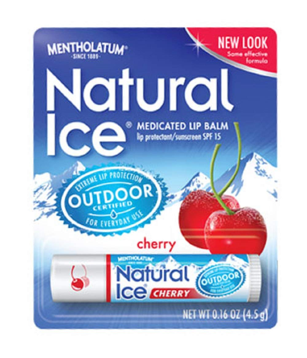 Natural Ice Medicated Lip Protect SPF 15 Cherry 12 Pkgs by Natural Ice