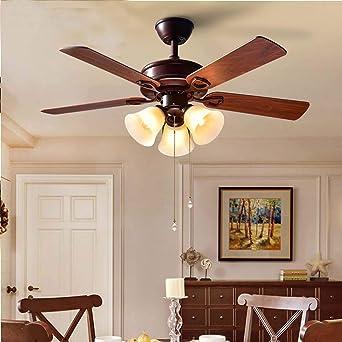Araña de luces Techo de América luz del ventilador del ventilador de la lámpara del ventilador antiguo con la luz de la sala dormitorio Den restaurante Colgante de luz: Amazon.es: Iluminación