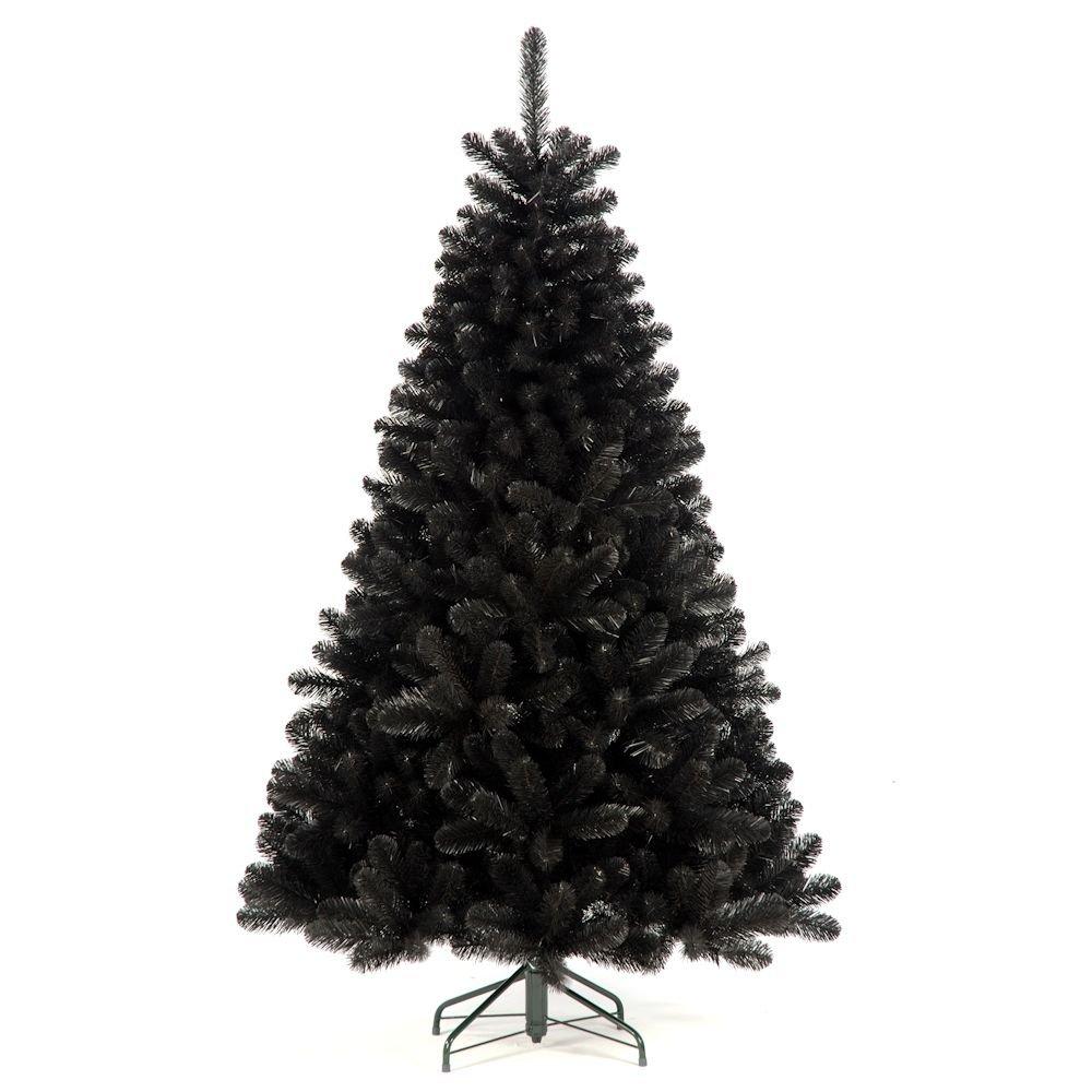 Longacres 1.8m (6ft) Arctic Spruce Black Artificial Christmas Tree