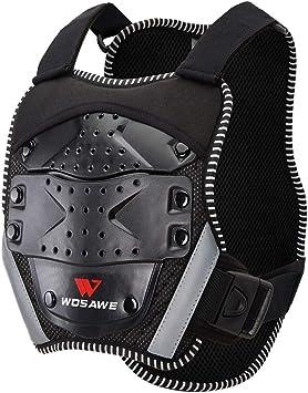 Wosawe Kinder Körperschutz Brust Rücken Wirbelsäule Protector Weste Für 5 16 Jahre Alt Kinder Radfahren Skifahren Reiten Skateboarding Motocross Auto