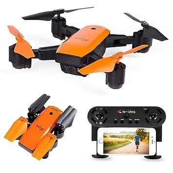 le-idea IDEA7 Drone GPS, WiFi FPV Quadcopter con Cámara 1080P HD ...