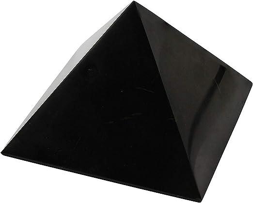 2 RTI TRADE Polished Shungite Pyramid Set for EMF Protection 5cm Set of 4 pcs