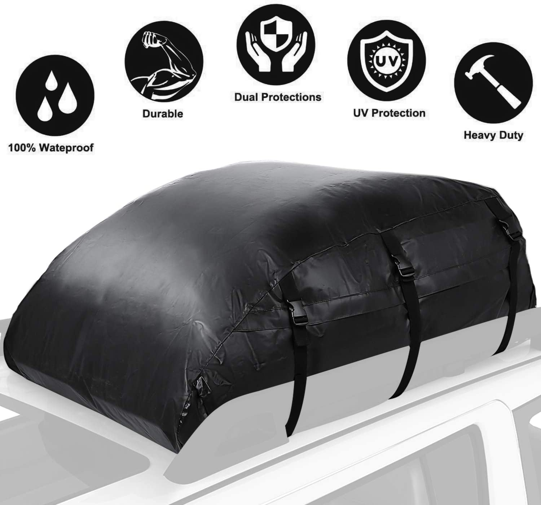 560L// PVC 1000D Sailnovo Box da Tetto Auto Box Portapacchi Auto Pieghevole Impermeabile Resistente 560L