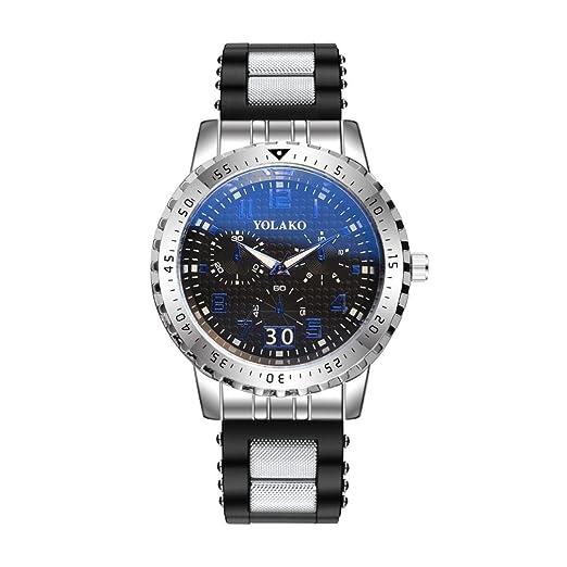 Relojes Unisexo,❤LMMVP❤Moda alta dureza espejo de vidrio hombres y mujeres general