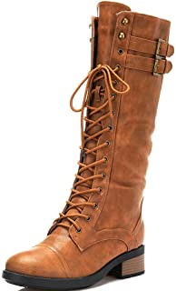 Amazon.com | Breckelles Outlaw-13 Women's Ankle Strap Tall Riding ...
