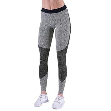 df86610fe1a3e Amazon.com: Sexy Women Patchwork Skinny Leggings Sports Athletic Stretch  Yoga Pants Fitness Gym Workout Trouser (L, Black): Beauty