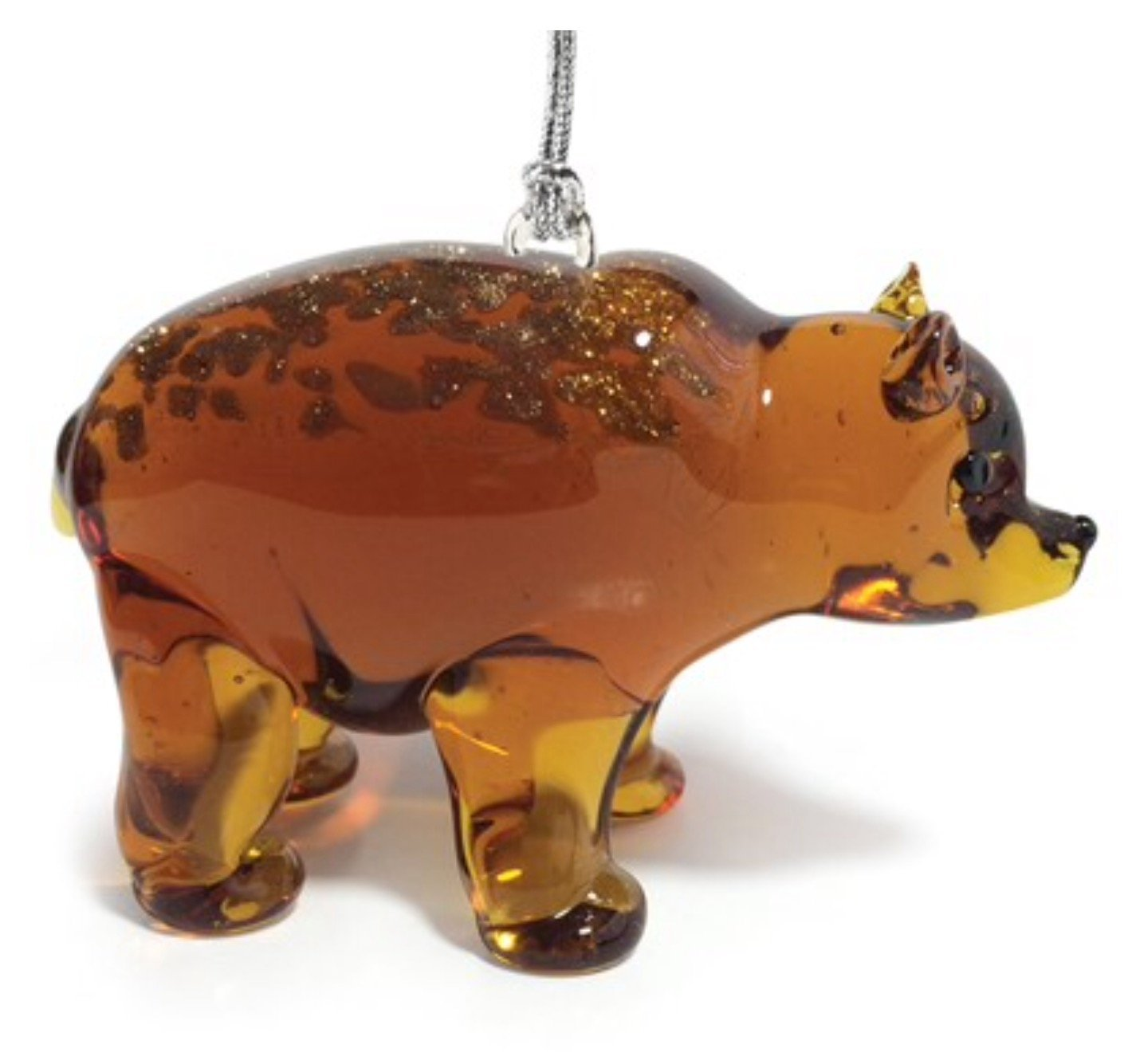 Dynasty Gallery Glassdelights Grizzly Bear Glass Christmas Tree Ornament Animal Decoration New