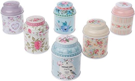 XMPTF - Caja de lata para guardar té, caramelos y regalos de boda ...