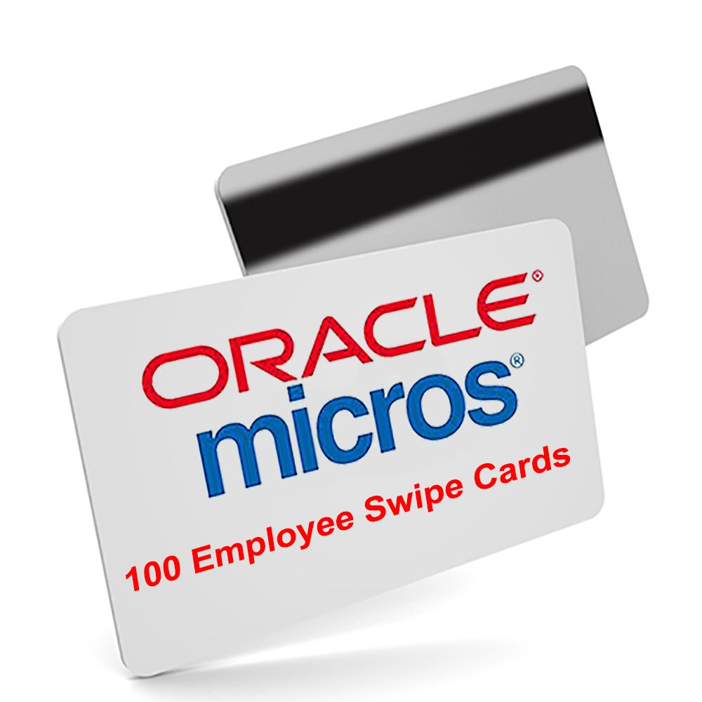 100 Micros Server Swipe Employee Cards - Amazon Prime Shipping