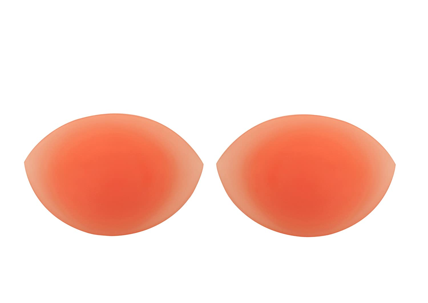 150g/pair - SODACODA Oval Shaped Silicone Inserts Chicken Fillets Breast Enhancers For Bras, Swimsuits, Bikini, Bandeau Bikinis Top - for A, B, C and D Cups - Clear Colour