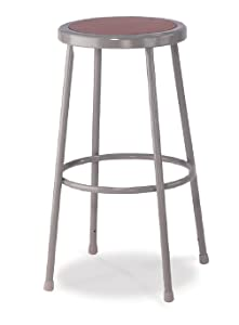 "NPS 30"" High Heavy Duty Steel Stool, Grey"