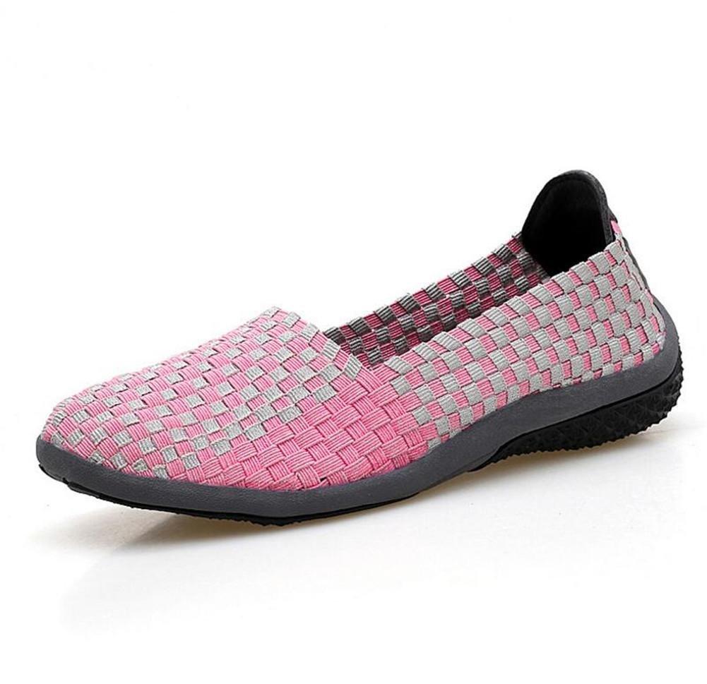 XIE Zapatos Ocasionales de Las Señoras Manual Que Hace Punto Zapatos, Rose Red, 38 38|rose red