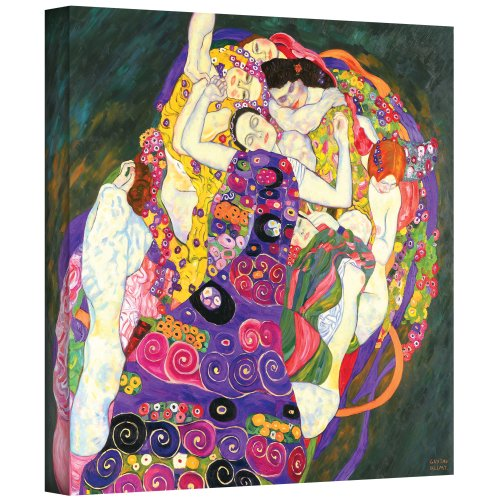 (ArtWall Virgins by Gustav Klimt Gallery Wrapped Canvas Art, 36 by 48-Inch)
