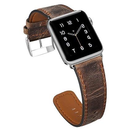 32499a4ab38 Pulseira De Couro Apple Watch 42mm Premium Marrom Clássica  Amazon ...