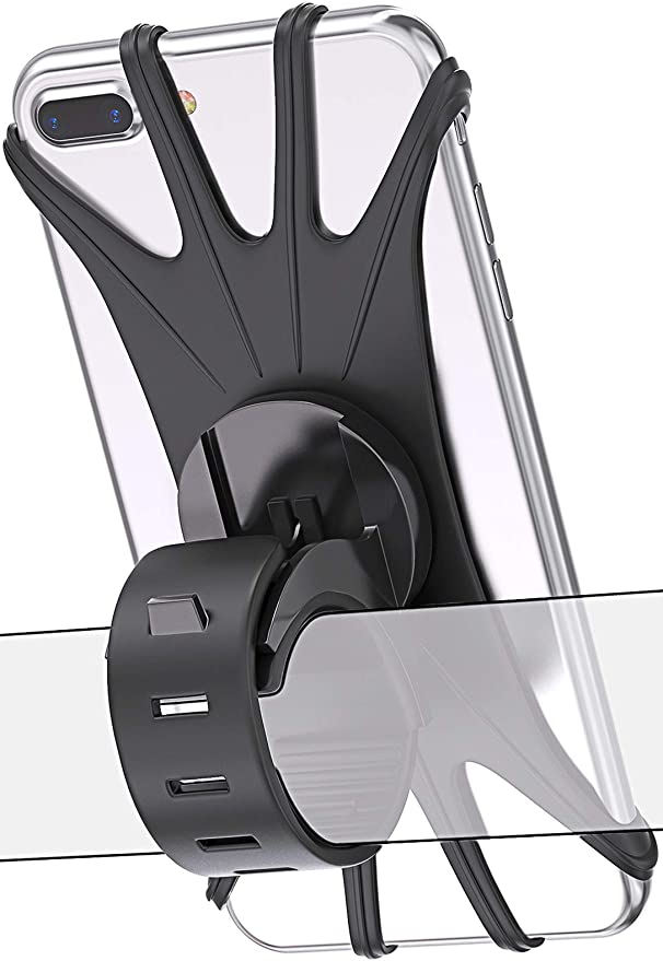 Motorcycle Black Anti-Shaking 360/° Rotable GPS Holder for Electric Cars Scooter Universal Mobile Phone Rearview Mirror Stand Aiccossr Motorcycle Phone Holder