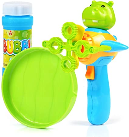 Kids Bubble Machine Gun Blower Solution Birthday Party Bubbles Characters Toys