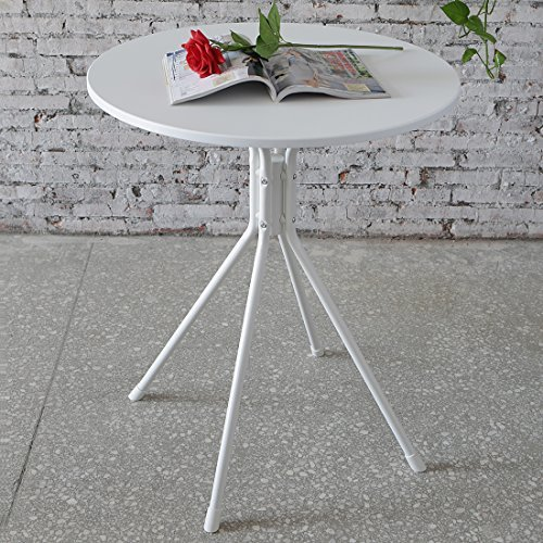 Funmall White Modern Round Table Tea Coffee Dining Living Room Furniture Home Decor with Splayed Leg Base by Funmall (Image #6)