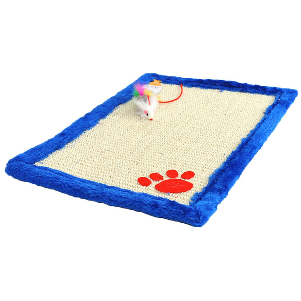Winter Warm Cushion Sisal Hemp Cat Sleeping Pad Mat With Small Rats Toy Cat Supplies Random Color