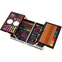AMERTEER Art Set Art Supplies artists drawing set 143-Piece for Drawing, Painting and More in a Compact, Portable Case…