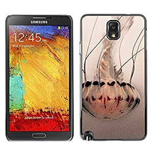 Paccase / SLIM PC / Aliminium Casa Carcasa Funda Case Cover - Umbrella Art White Ocean - Samsung Note 3 N9000 N9002 N9005