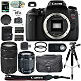 Canon EOS Rebel T6S/760D DSLR Camera Bundle: Canon EF-S 18-55mm IS STM Lens + Canon EF 75-300mm III Lens + 64GB SDXC Memory Card + SD Card Reader + Case + Accessory Kit - International Version
