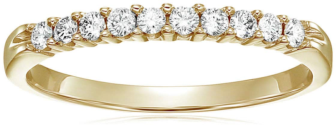 Vir Jewels 1/3 cttw Diamond Wedding Band in 14K Yellow Gold In Size 9 by Vir Jewels