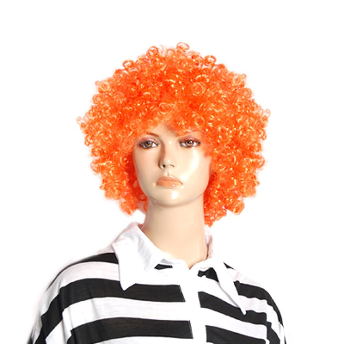 Halloween Hombre Mujer Naranja Rizado Afro Circo Peluca De Payaso: Amazon.es: Belleza