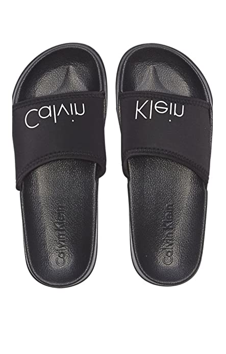 62e93843cf8 CALVIN KLEIN Underwear - Chanclas para Hombre Negro Size  43 44 EU   Amazon.es  Zapatos y complementos